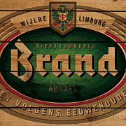 Bier Framed Prints - Brand Beer on wood Framed Print by Nop Briex