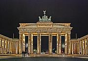 Nightshot Framed Prints - Brandenburg Gate Framed Print by Joachim G Pinkawa