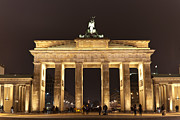 Evening Prints - Brandenburg Gate Print by Mike Reid