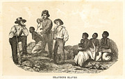 Branding Framed Prints - Branding Slaves, 1858 Framed Print by Granger