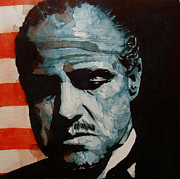 Marlon Brando Framed Prints - Brando Framed Print by Paul Lovering