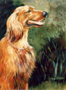 Brandy   Irish Setter Print by JoAnne Corpany