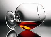 Alcoholic Photos - Brandy snifter by Tony Cordoza