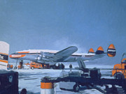 Constellation Digital Art - Braniff s Lockheed Constellation in icy conditions by Nop Briex