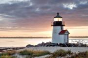 Krauzyk Art - Brant Point Light Nantucket Massachusetts by Henry Krauzyk