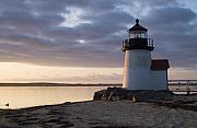 Lighthouse Metal Prints - Brant Point Light Number 1 Nantucket Metal Print by Henry Krauzyk