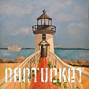 Brant Point Art - Brant Point Lighthouse - Nantucket by Kathy Konopka Streinger