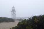 Brant Point Art - Brant Point Mist - Nantucket by Henry Krauzyk
