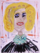Primitive Drawings - Brash Blond by Mary Carol Williams