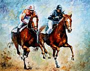 Ride Painting Originals - Brave Girls by Leonid Afremov