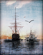 Historic Ship Framed Prints - Brave New World Framed Print by Lianne Schneider