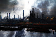 Oil Refinery Photo Posters - Brave New World - Version 1 - 7D10358 Poster by Wingsdomain Art and Photography