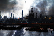 Oil Refinery Photo Posters - Brave New World - Version 2 - 7D10358 Poster by Wingsdomain Art and Photography
