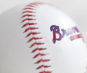 Braves Baseball Print by Malania Hammer