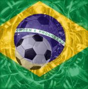 Soccer Mixed Media - Brazil 2010 by Fania Simon