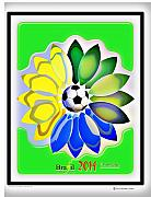 Print Digital Art Originals - Brazil 2014 world cup by Herman Cerrato