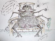 Signed Mixed Media Posters - Brazilian wandering spider Poster by Paul Chestnutt
