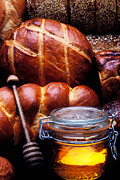 Tasty Photo Metal Prints - Bread and honey Metal Print by Garry Gay