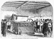 Making Posters - Bread-making Machine, 1858 Poster by Granger