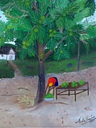 Nicole Jean-louis Paintings - Breadfruit by Nicole Jean-Louis