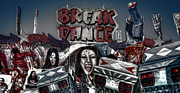 Break Dance Prints - Break Dance Print by Wayne Sherriff