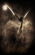 Night Angel Prints - Break into dreams Print by Jarno Lahti