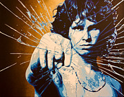 Jim Morrison Paintings - Break On Through by Bobby Zeik