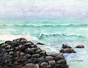 Rocks Pastels - Breakers by Arline Wagner