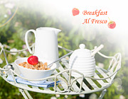 Al Fresco Posters - Breakfast Al Fresco Poster by Christopher and Amanda Elwell