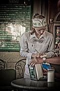 Waitress Posters - Breakfast at Cafe Du Monde Poster by Daniel Ray