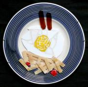 Fries Glass Art - Breakfast by Diane Morizio