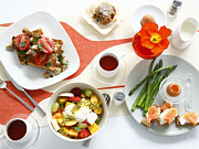 Egg-cup Photos - Breakfast Dishes On Table by Cultura/BRETT STEVENS