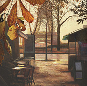 Amazing Sunset Paintings - Breakfast in Paris by Helen Parsley