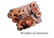 Conscious Mixed Media - Breakfast of champions by Betty OHare
