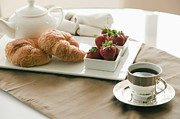A.m Prints - Breakfast Setting on Table Print by Shannon Fagan