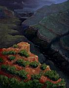 Canyon Paintings - Breaking Dawn by Linda Hiller