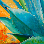 Agave Paintings - Breaking Out by Athena  Mantle