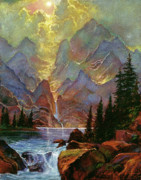 Most Popular Painting Originals - Breaking Sunlight by David Lloyd Glover