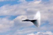 Air Plane Photo Prints - Breaking Through Print by Adam Romanowicz
