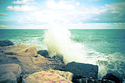 Power In Nature Prints - Breaking Waves Print by Sabino Parente Photographer - www.sabinoparente.com