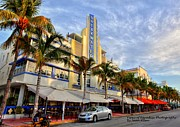 Collins Avenue Prints - Breakwater Hotel Print by Sean Allen