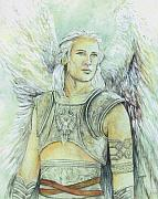 Angel Greeting Cards - Breastplate of Righteousness by Morgan Fitzsimons