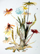 Dandelion Drawings - Breath of Life by Mindy Newman