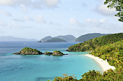 Bay Islands Posters - Breath-taking View Of Trunk Bay, St John Poster by Driendl Group