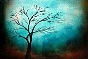 Abstract Tree Prints - BREATH Tree Painting Print by Heather Offord