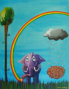 Rainbow Metal Prints - Breathe Metal Print by Mindy Huntress