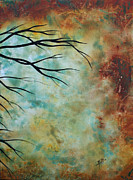 Golden Brown Painting Posters - Breathless 3 by MADART Poster by Megan Duncanson