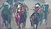 Western Art Digital Art Framed Prints - Breeders Cup Race Framed Print by George Pedro