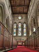 Church On The Hill Posters - Breedon church interior Poster by Steev Stamford