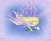 Girls Room Prints - Breewyna the Butterfly Fairy Print by Amalou Studio